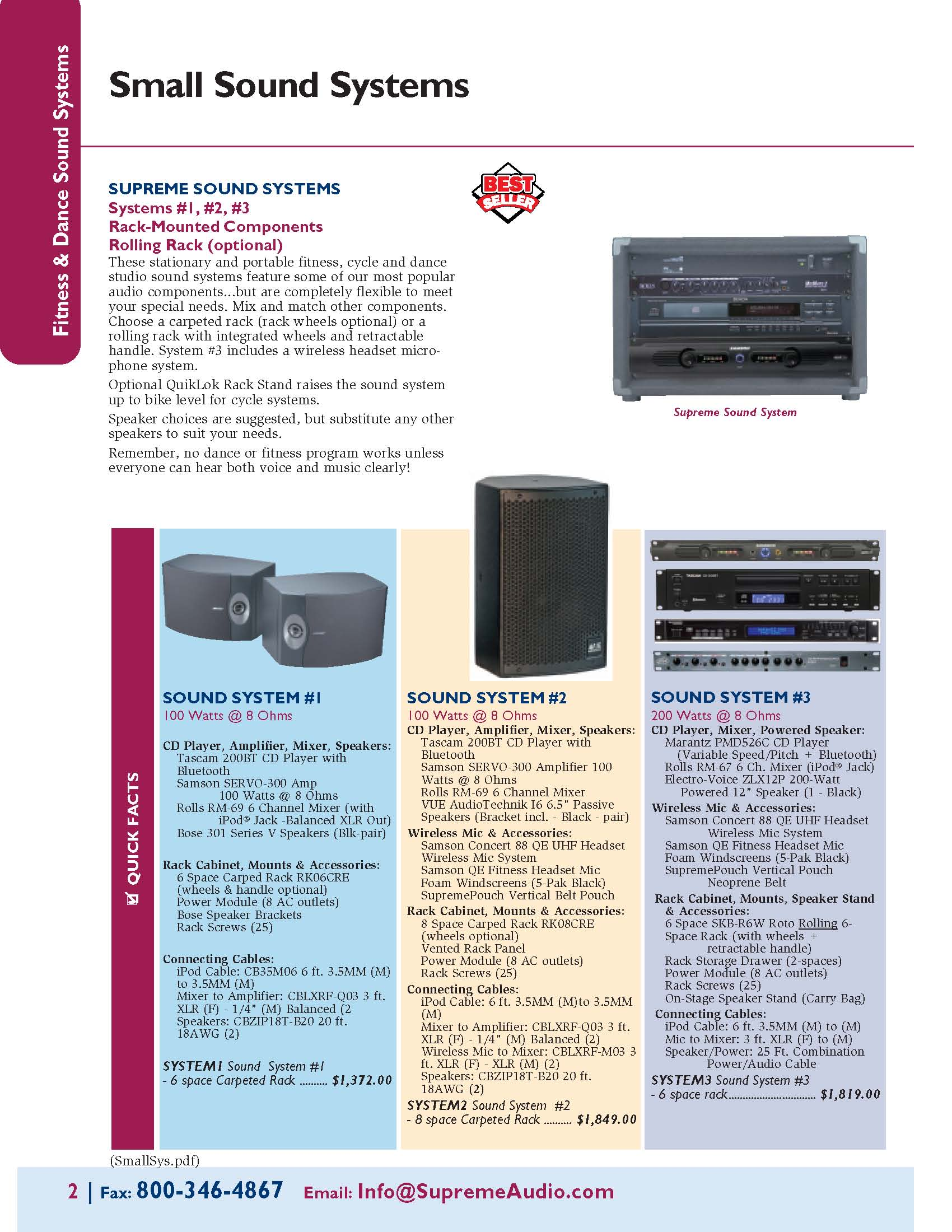 Budget Sound Systems for Group Ex, Cycling & Dance Studios
