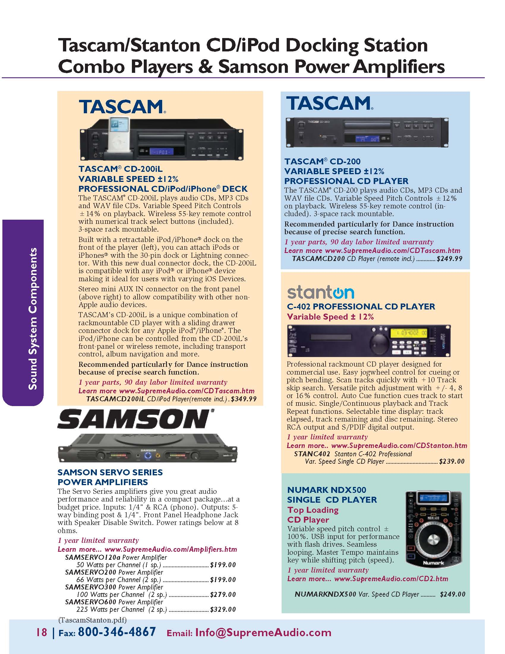 Tascam/Stanton CD/iPod Docking Station